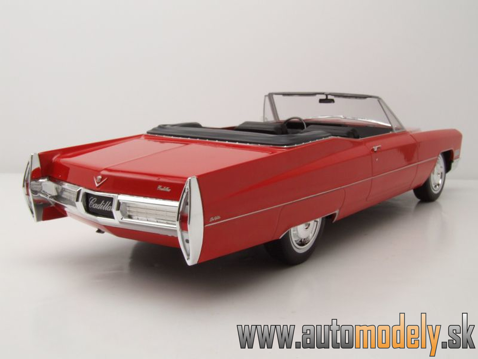 KK Scale - Cadillac Deville Convertible - red - 1:18