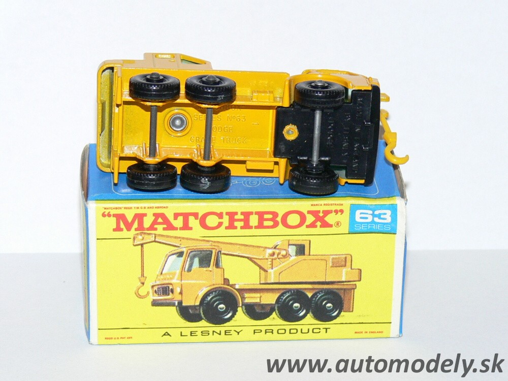 Matchbox Regular No.63 - Dodge Crane Truck