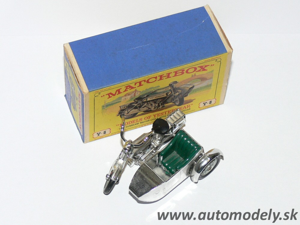 Matchbox Yesteryear Y-8 - 1914 Sumbeam Motor Cycle with Milford Sidecar