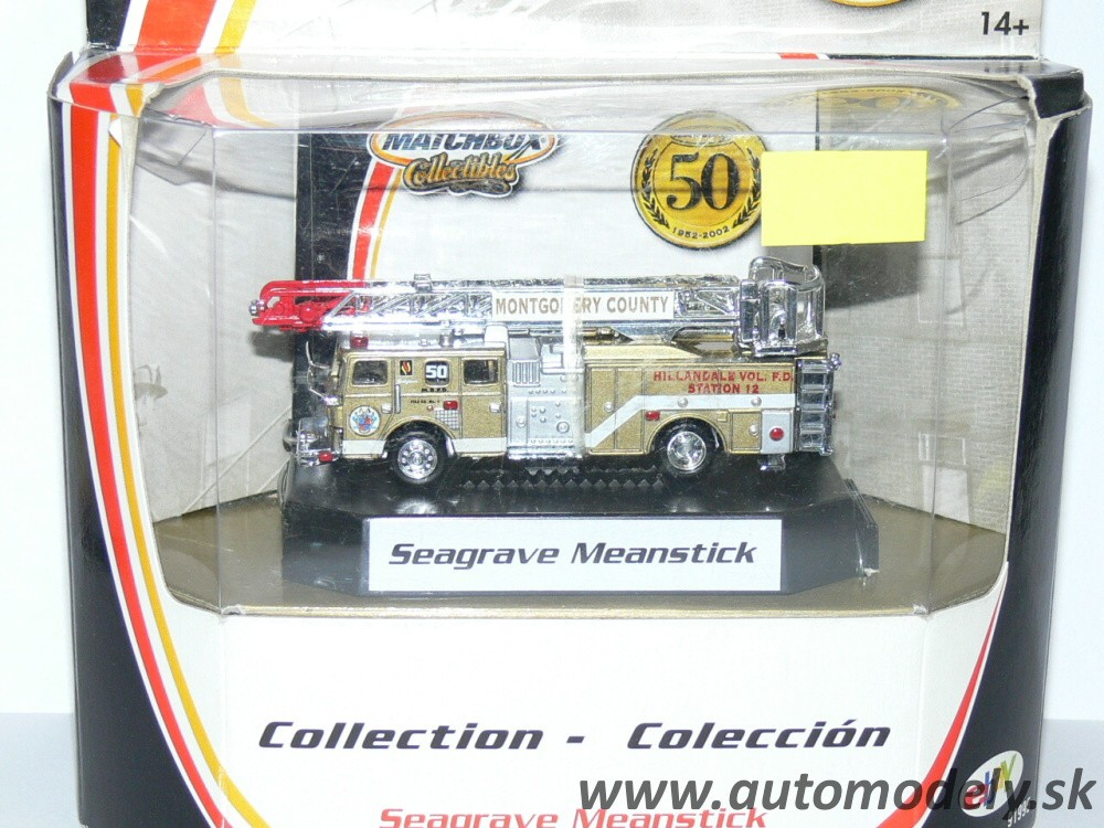 Matchbox 50th anniversaries - Fire Truck Seagrave Meanstick