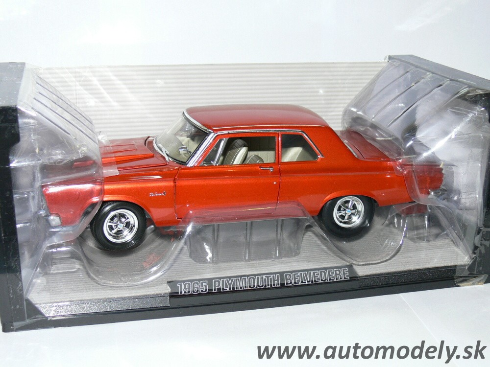 Highway 61 - 1965 Plymouth Belvedere ( Red-Orange ) 1:18