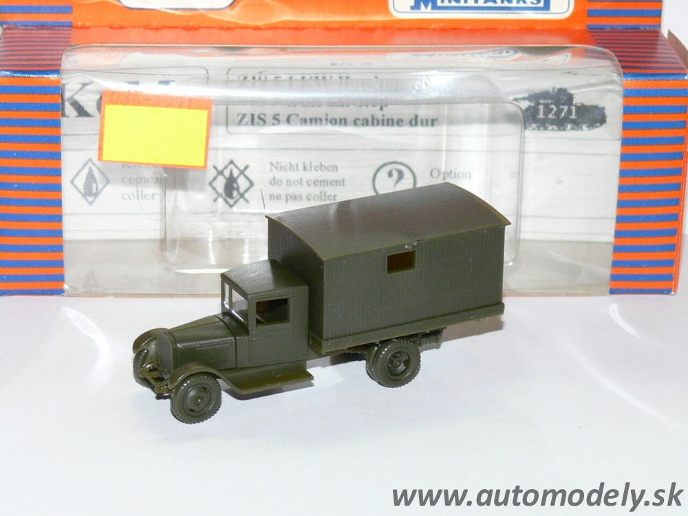 Mouse over image to zoom  Details about  Roco 1271 Minitanks - LKW ZIS-5 Kasten Truck - 1:87