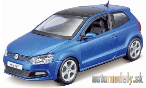 Bburago - VW Polo V GTI, metallic-blue - 1:24