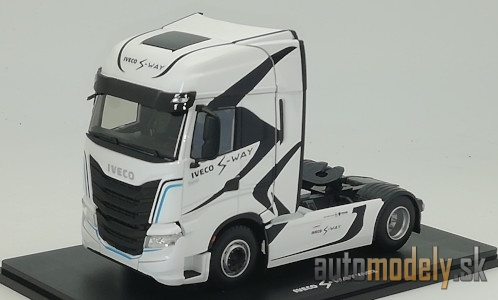 Eligor - Iveco S-Way S570, white/Decorated, towing vehicle - 1:43