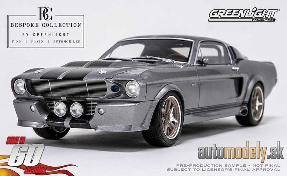 GREENLIGHT - Ford MUSTANG 'ELEANOR' 1967 GONE IN 60 SECONDS (2000) BESPOKE RESIN COLLECTION - 1:12