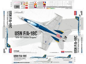 Academy McDonnell F/A-18C USN VFA-192 Golden Dragons (1:72)