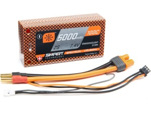 Spektrum Smart LiPo 7.4V 5000mAh 100C Short HC