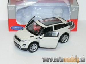 Welly - Range Rover Evoque (Naťahovačka) White - 1:32