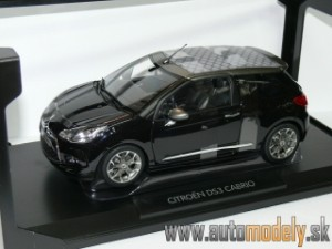 Norev - Citroen DS3 Cabriolet Year 2012 Black / Gray - 1:18