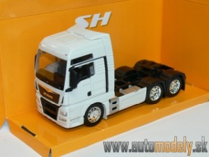 Welly - MAN TGX (6x4) kamion/ťahač (White) - 1:32