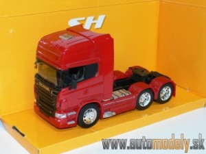 Welly - Scania R730 V8 (6x4) kamion/ťahač (Red) - 1:32