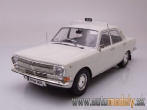 Model Car - Volga GAZ M24 TAXI White - 1:18