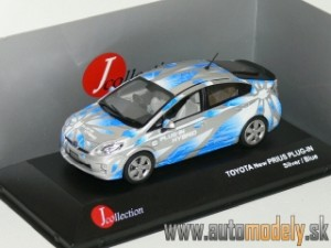 J-Collection - Toyota Prius Plug-In Hybrid Silver/Bue - 1:43