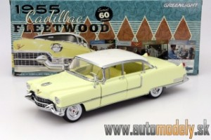 GreenLight - 1955 Cadillac Fleetwood ( Yellow with White roof ) - 1:18
