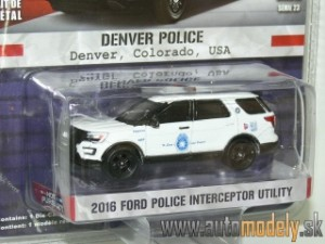 GreenLight - 2016 Ford Police Interceptor Utility - Denver Police USA - 1:64