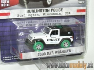 GreenLight - 2009 Jeep Wrangler - Burlington Police USA - 1:64