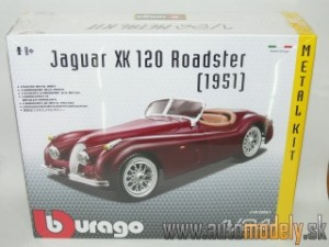Bburago - Jaguar XK 120 Roadster 1951 Red ( Metal Kit ) - 1:24