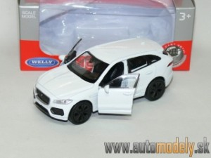 Welly - Jaguar F-Pace (White) Naťahovačka - 1:41