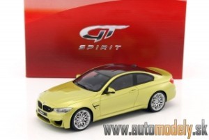 GT Spirit - BMW M4 F82 Competition Package (yellowmetallic/carbon) - 1:18