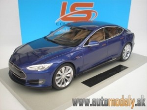 LS Collectibles - Tesla Model S 2012 Blue - 1:18