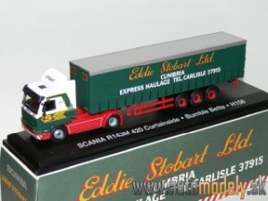 Scania R143M 420 Curtainside - Bumble Bette - H158- Eddie Stobart - 1:76 Atlas Collection