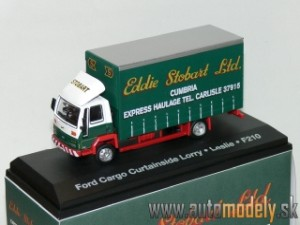 Ford Cargo Curtainside Lorry - Leslie F210 - Eddie Stobart - 1:76 Atlas Collection