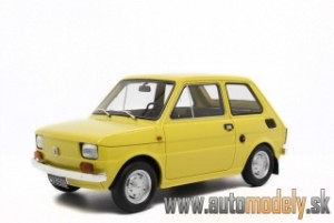 Fiat 126 Prima Serie 1972 ( Yellow ) - 1:18 Laudoracing