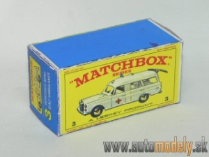 Replika Box - Matchbox Regular Wheels - No.3 Mercedes-Benz BINZ AMBULANCE