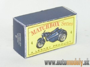 Replika Box - Matchbox Regular Wheels - No.4 Triumph Mororcycle and Sidecar