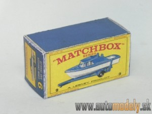 Replika Box - Matchbox Regular Wheels - No.9 Boat And Trailer