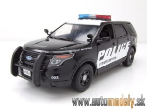 "Motor Max - Ford S-Max 2015 POLICE Interceptor Utility ""Light and Sound"" - 1:24"