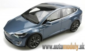 LS Collectibles - Tesla  Model X - šedá metalíza - 1:18