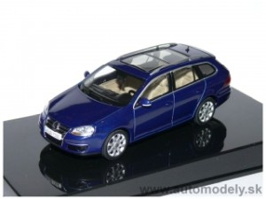 AutoArt - VW Golf 5 Variant 2007 ( Blue Metallic ) - 1:43