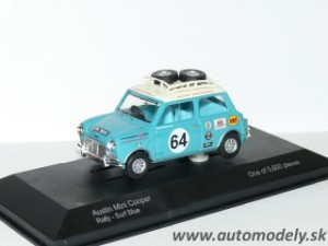 Lledo Vanguards - Autin Mini Cooper Rally - Surf Blue - 1:43