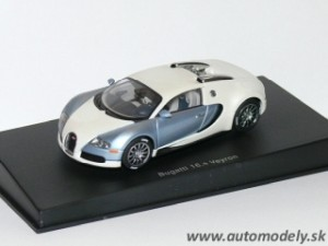 AutoArt - Bugatti Veyron EB 16.4 Production Car ( pearl/ice blue ) 1:43