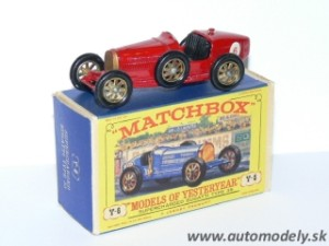 Matchbox Yesteryear Y-6 - Bugatti Supercharged Type 35