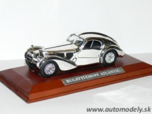 Bugatti Coupé Atlantic - 1:43 Silver-Cars Collection
