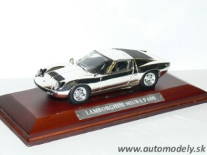 Lamborghini Miura P400 - 1:43 Silver-Cars Collection