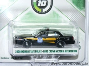 GreenLight - 2008 Indiana State POLICE - Ford Crown Victoria Interceptor - 1:64