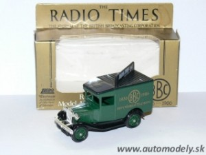 Lledo Models - Ford Delivery Van - Fifty Years of Television