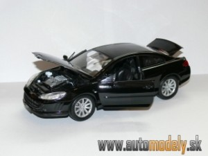 Welly - Peugeot 407 Coupe ( Black ) - 1:18