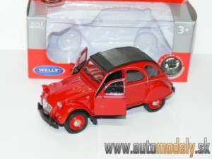 Welly - Citroen 2 CV Red (Naťahovačka) - 1:32