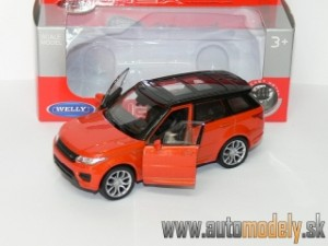 Welly - Range Rover Sport Orange (Naťahovačka) - 1:32