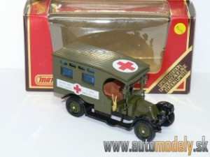 Matchbox Yesteryear Y-25 - 1910 Renault AMBULANCE (Sanitka)