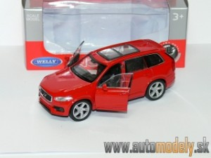 Welly - 2015 VOLVO XC 90 Red (Naťahovačka) - 1:32