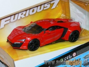 "Jadatoys - 2014 Lykan Hypersport ""Fast and Furious 7"" Red - 1:24"