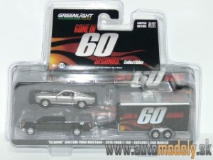 "GreenLight - Shelby GT500 Eleanor ""Gone in 60 Seconds"" Ford F150 pick-up Truck & Trailer set - 1:64"
