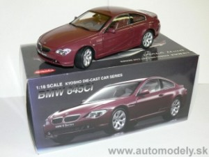 Kyosho No.08701CR - BMW 645Ci Coupe ( Dark Red ) - 1:18