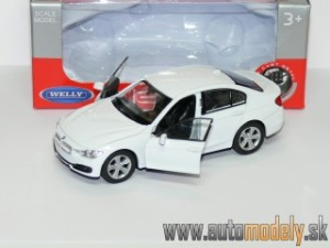 Welly - BMW 3 Series White ( naťahovačka / pull back ) - 1:32