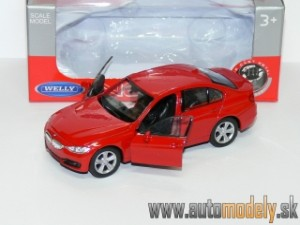 Welly - BMW 3 Series Red ( naťahovačka / pull back ) - 1:32